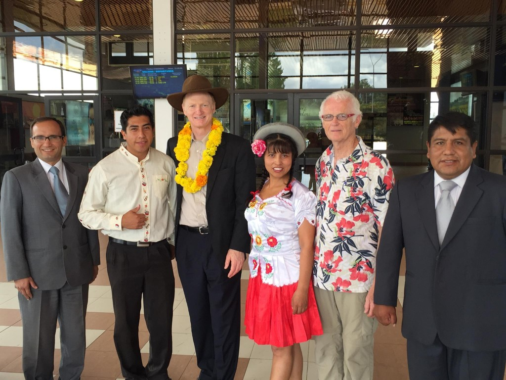 We were warmly welcomed a few minutes ago in Tarija, Bolivia.