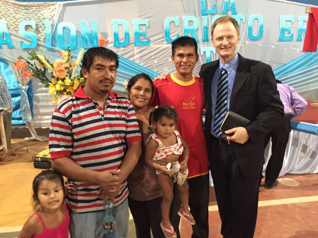 In Riberalta, Bolivia we were blessed with a great night. The adults with me are all deaf and speak sign language. The man beside me was baptized. Inspirational!