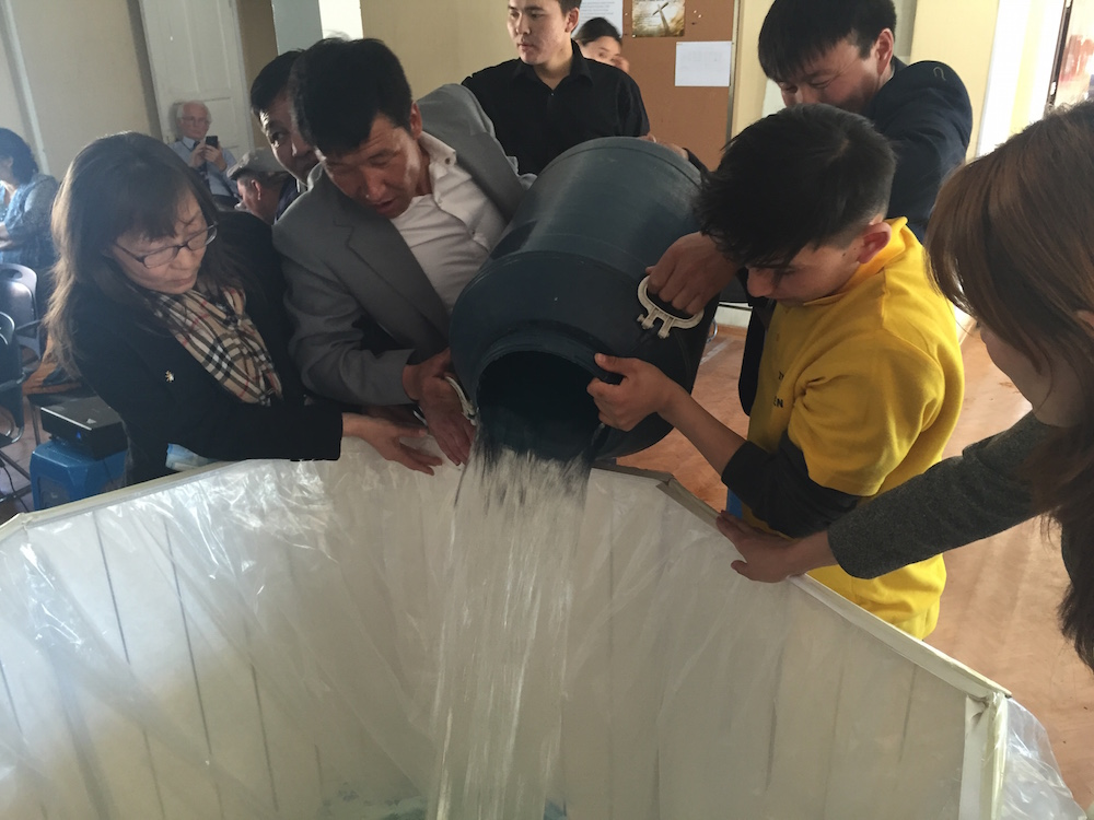 Filling up the baptistry