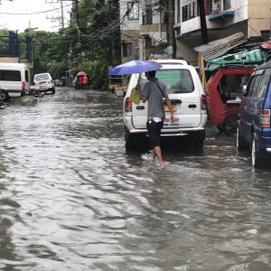 Flooding in the streets of Manila