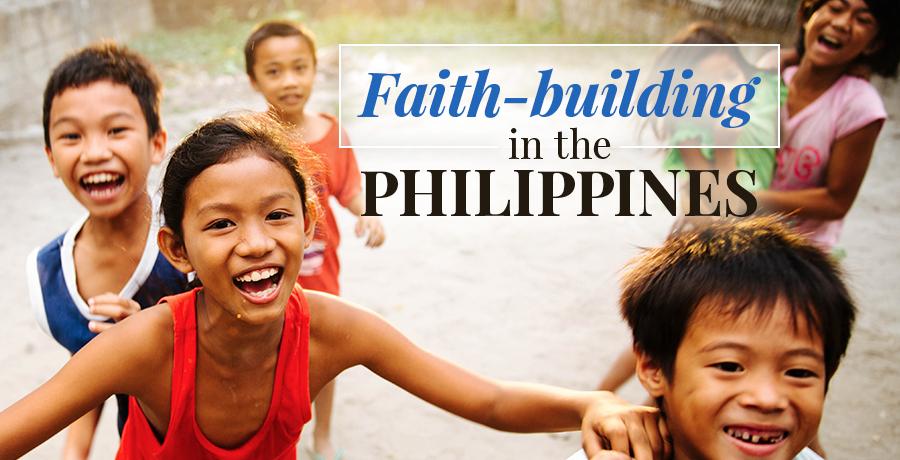 Filipino children playing